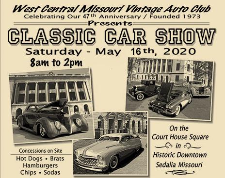 West Central Missouri Vintage Auto Club Classic Car Show 2020