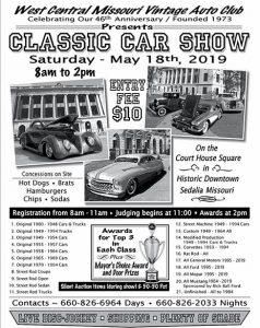 West Central MO Vintage Auto Club - show